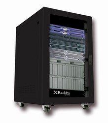 XRackPro2 25U Noise Reduction Server Rack Enclosure Rackmount Cabinet in Black